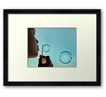 I dream of bubble Framed Print