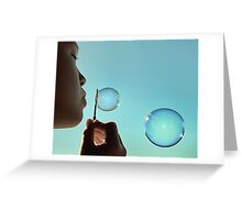 I dream of bubble Greeting Card
