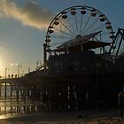 Santa Monica Pier Sunset by John Mckinney