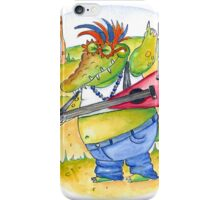 Al Crocogator - Croc playing Rock iPhone Case/Skin