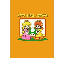 Two Girls One Up Photographic Print