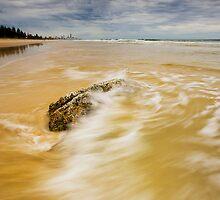 Nobbys Last Rock by Ken Wright