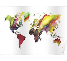 Colored world map Poster