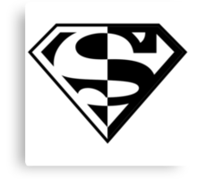 Superman Good and Evil Canvas Print