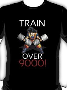 Train over 9000- White letters T-Shirt