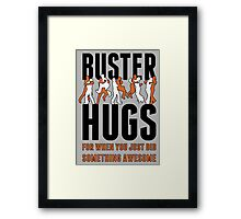 "SF Giants ""Buster Hugs"" Framed Print"