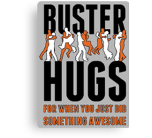 "SF Giants ""Buster Hugs"" Canvas Print"