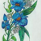 Botanical Print of Cerean Flowers by Starshadow