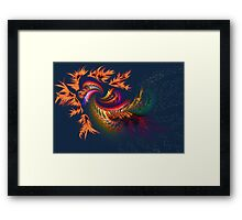 Dragon abstract fractal Framed Print