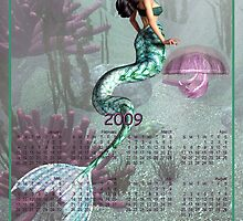 Mermaid & Jelly Fish - Month at a Glance 2009 calendar by Lisa  Weber