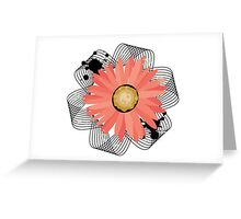 Ribbioned Flower Greeting Card