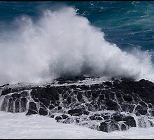 Australia - Wave versus coast by Andrew Wilson