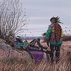 Vagabonds - The Magpie Charmer And Bub by Simon Stålenhag