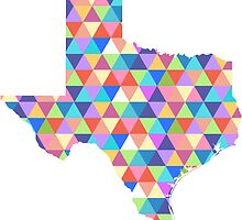 Texas Geometric Colorful Triangles Hipster Texas by CorrieJacobs