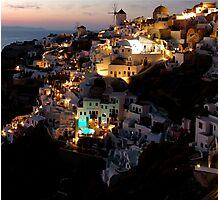 NIGHT IN GREECE Photographic Print