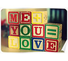 Me+You=Love Poster