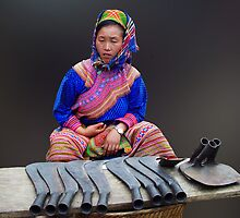 FLOWER HMONG LADY - VIETNAM by Michael Sheridan