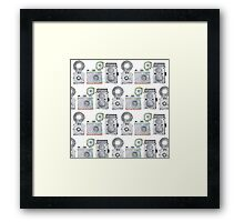 Camera Pattern Framed Print