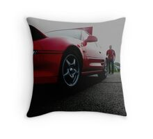 Car and it's owner Throw Pillow