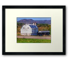 A White Barn Framed Print