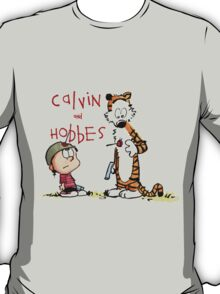 calvin and hobbes shoot on T-Shirt