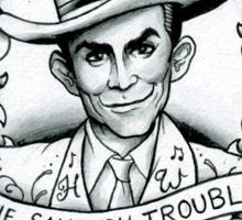 Hank Williams portrait tee Sticker