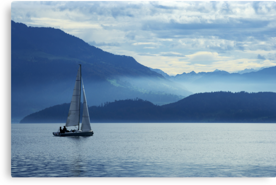 sailing on lake Zug, Switzerland by sumners