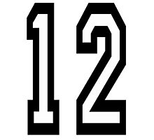 TEAM SPORTS, NUMBER 12, TWELVE, TWELFTH, Competition Photographic Print