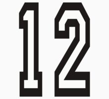 TEAM SPORTS, NUMBER 12, TWELVE, TWELFTH, Competition Kids Clothes