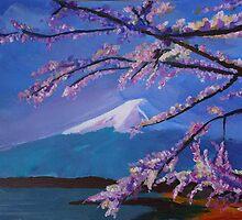 Marvellous Mount Fuji with Cherry Blossom in Japan Sakura by artshop77