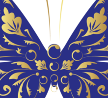 Butterfly, ornate Sticker