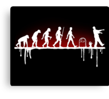 Evolution: Zombie Canvas Print