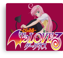 Lala - to love ru Darkness Canvas Print