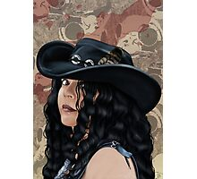 That Girl in the Black Hat Photographic Print