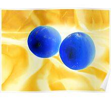 Lemon Blue Poster
