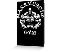 Muscle Gym Greeting Card