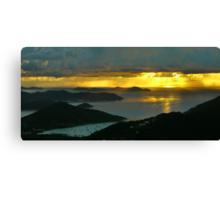 Stormy Sunrise, St. John Canvas Print