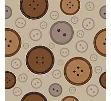 seamless brown  buttons pattern  Photographic Print