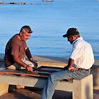 2 men and a boat by Mark  Allen