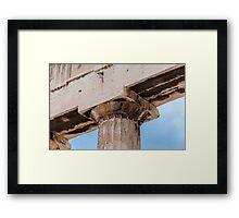 Parthenon column Framed Print