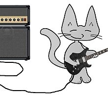 Rock 'n Roll Kitty  by JohnsCatzz