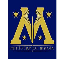 Ministry of Magic- Harry Potter Nerd Photographic Print