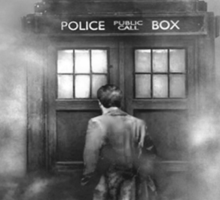 The Doctor in the Mist - Doctor Who Nerd Sticker