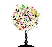 Floral tree Photographic Print