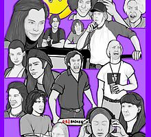 dazed and confused character collage art by gjnilespop