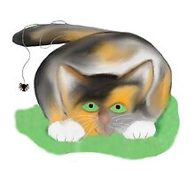 Kitten has a Spider on her Tail by NineLivesStudio