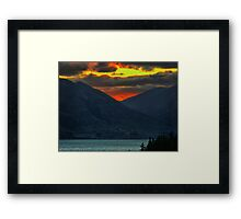 The Distant Fires of Mordor Framed Print