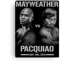 Mayweather vs Pacquiao Canvas Print