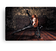 Tanya Wheelock as Black Widow (Photography by Sean William / Dragon Ink Photography) Canvas Print