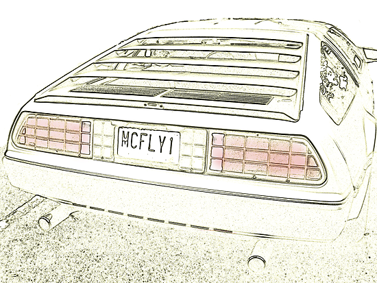 Delorean Sketch by Maria Schlossberg